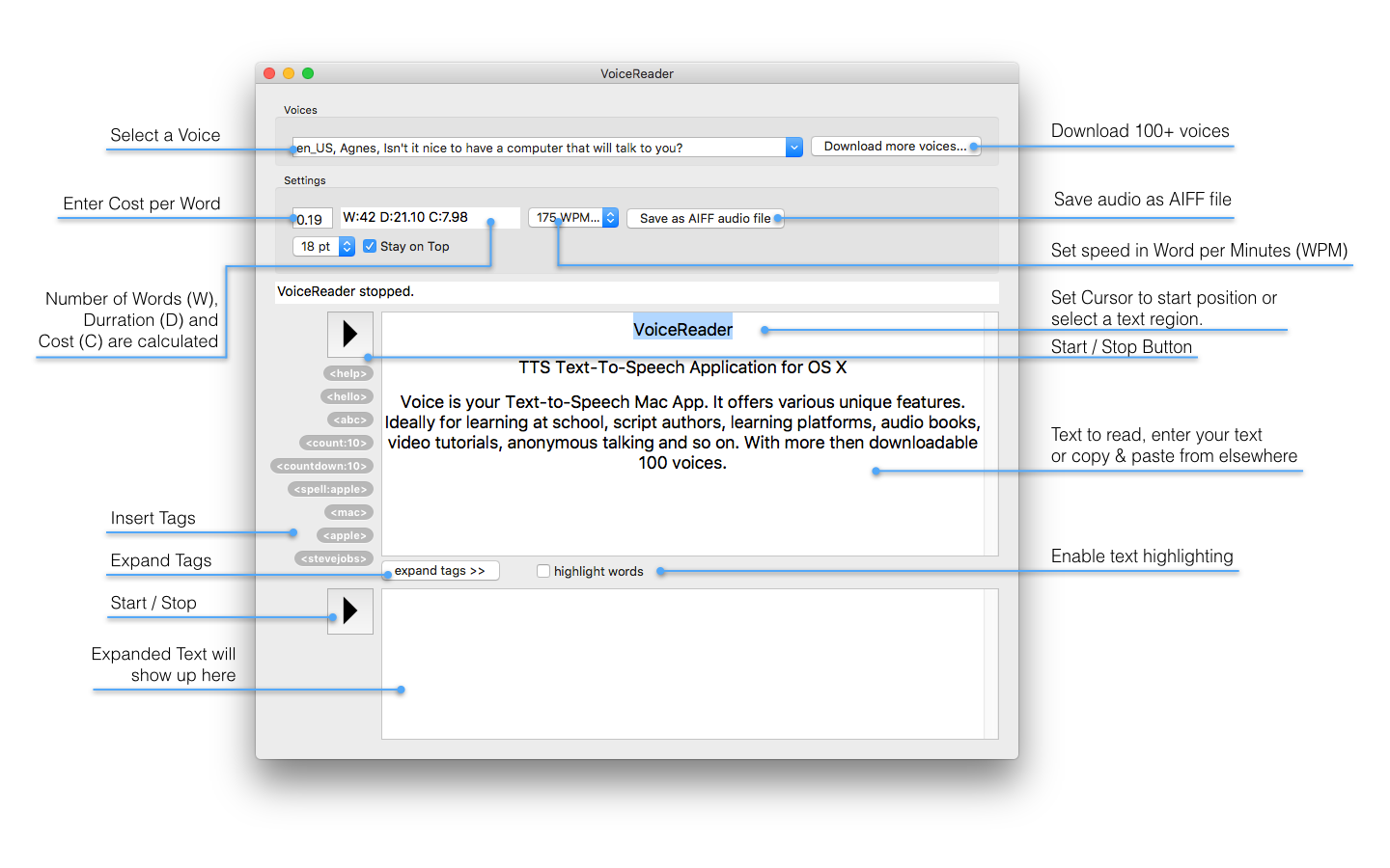VoiceReader (LTS) Text To Speech App For Script Authors
