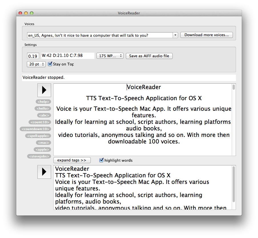 VoiceReader-6.0.1-6-on-Mac-OS-X-10.7.3-Lion